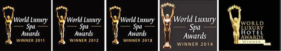 world luxury spa award black background